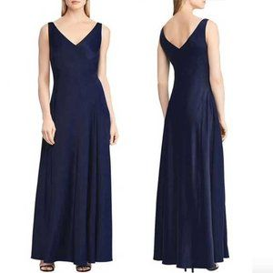 Ralph Lauren Debbyann Sleeveless Gown in Navy 4